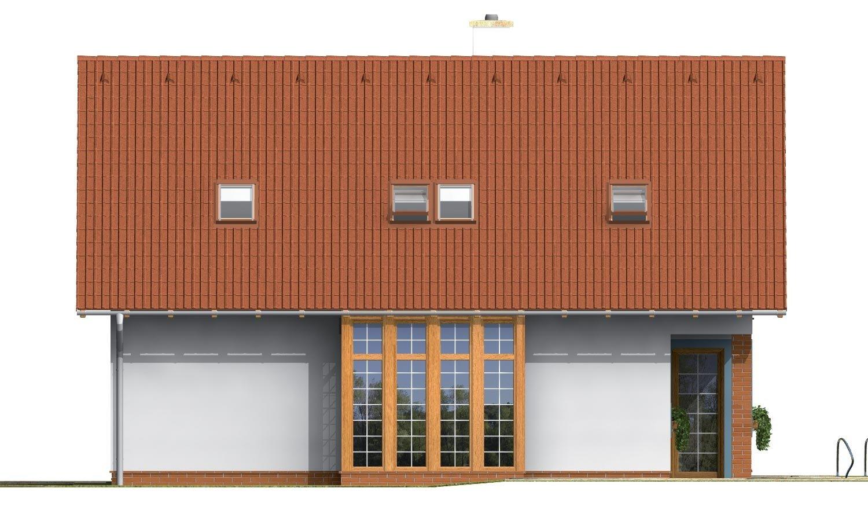 Pohľad 4. - Praktický dom s galériou a izbou na prízemí.