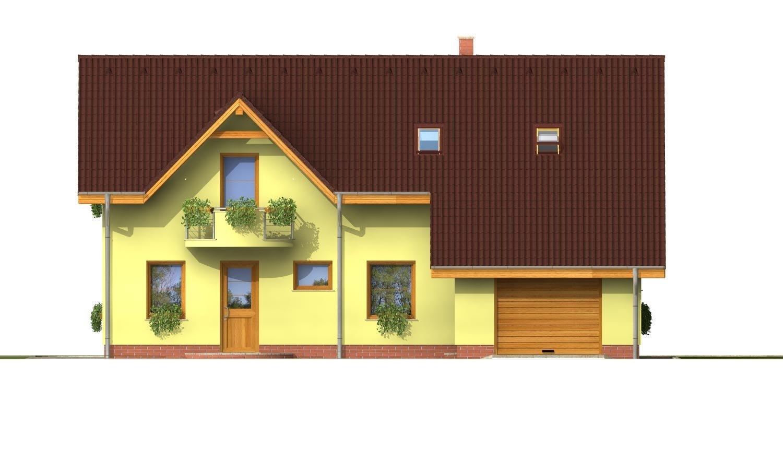 Pohľad 1. - Elegantný dom s garážou.