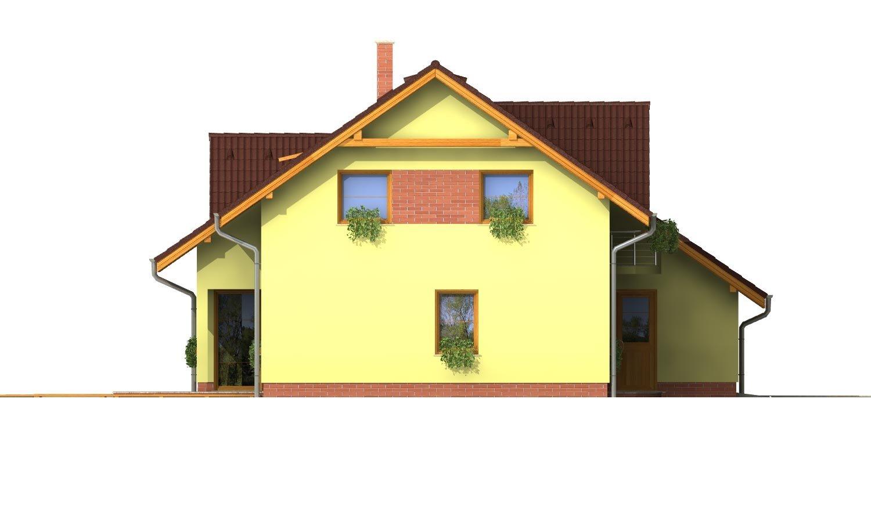 Pohľad 2. - Elegantný dom s garážou.