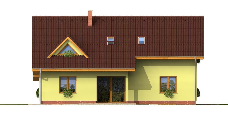 Pohľad 3. - Elegantný dom s garážou.