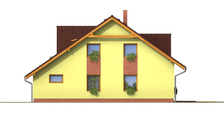 Pohľad 4. - Elegantný dom s garážou.