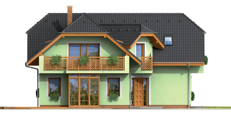 Pohľad 4. - Krásny veľký dom aj so suterénom.