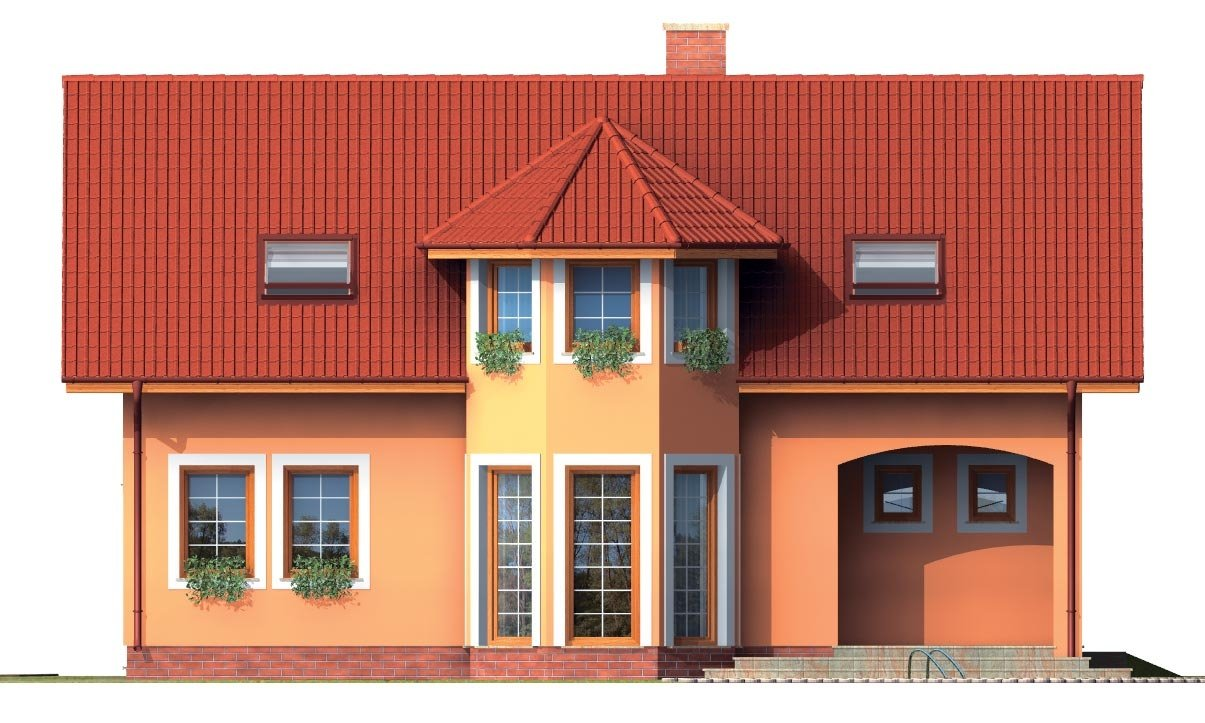 Pohľad 3. - Rodinná vila so suterénom, možnosť dvojgeneračného bývania