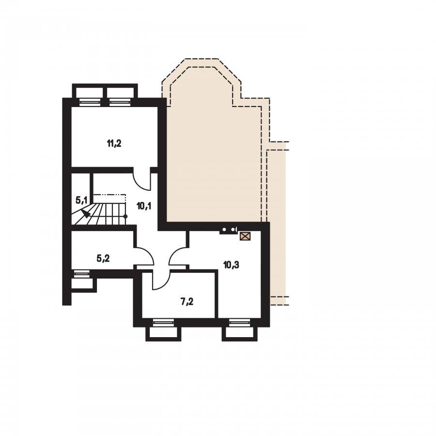 Pôdorys Suterénu - Rodinná vila so suterénom, možnosť dvojgeneračného bývania