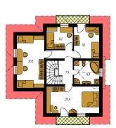 Pôdorys poschodia - PREMIER 151