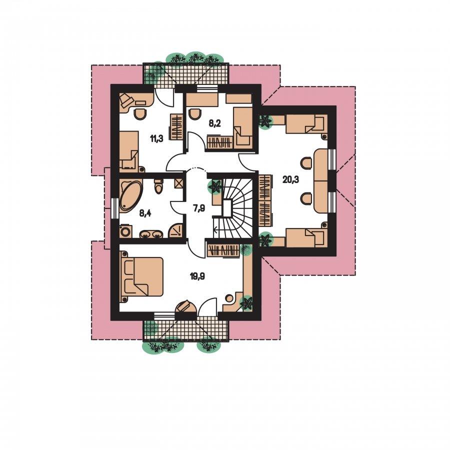 Pôdorys Poschodia - Prekrásny dom pre početnú rodinu