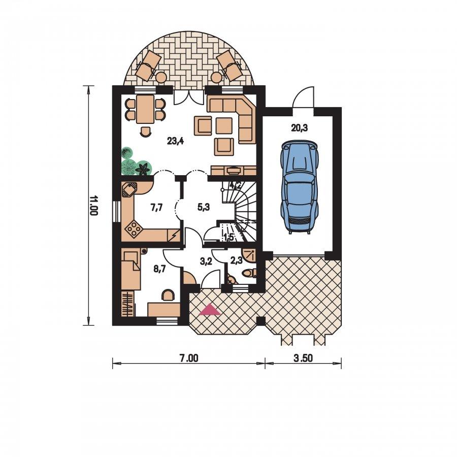 Pôdorys Prízemia - Prekrásny dom pre početnú rodinu