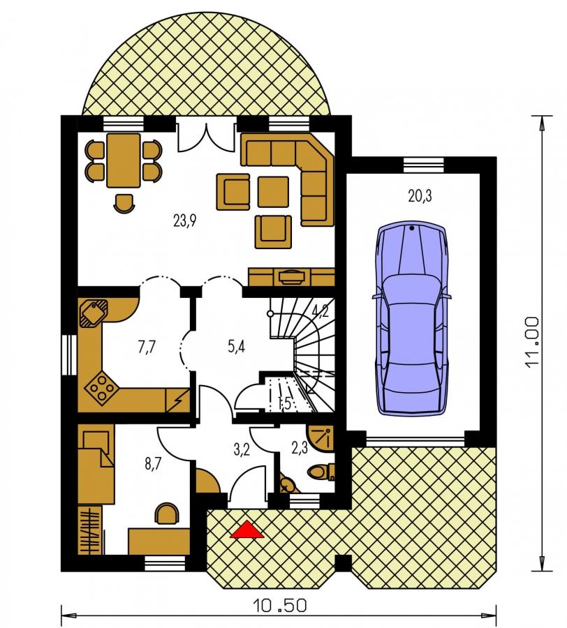 Pôdorys Prízemia - Prekrásny dom pre početnú rodinu.