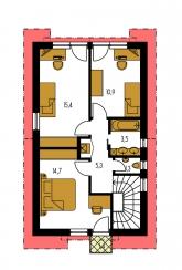 Pôdorys poschodia - PREMIER 152