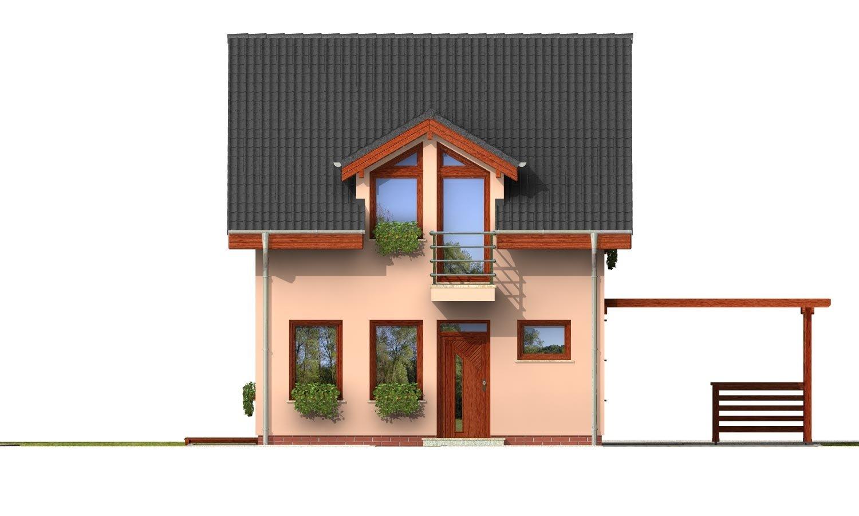 Pohľad 1. - Iba 6,5 metrov široký moderný dom.
