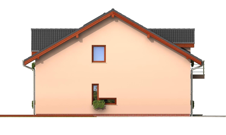 Pohľad 2. - Iba 6,5 metrov široký moderný dom.