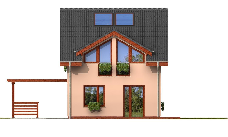 Pohľad 3. - Iba 6,5 metrov široký moderný dom.