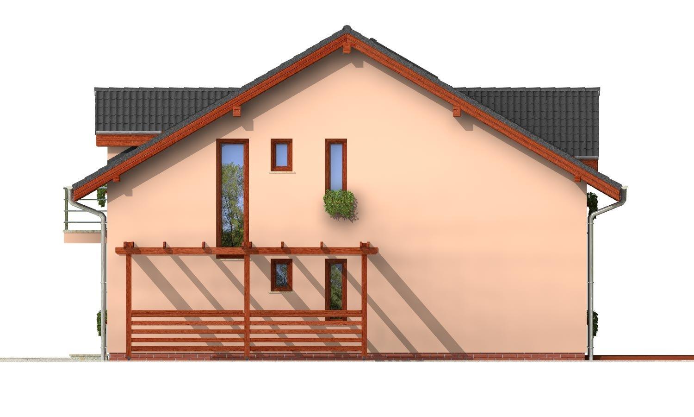 Pohľad 4. - Iba 6,5 metrov široký moderný dom.