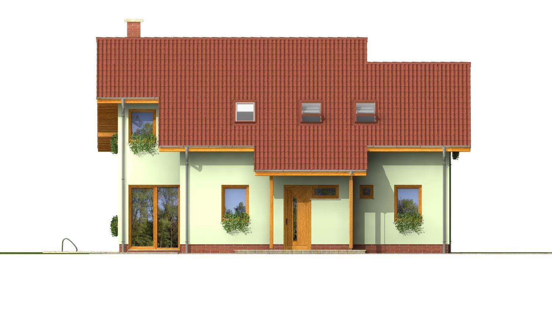 Pohľad 1. - Priestranný dom so sedlovou strechou.