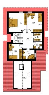 Pôdorys poschodia - PREMIER 154