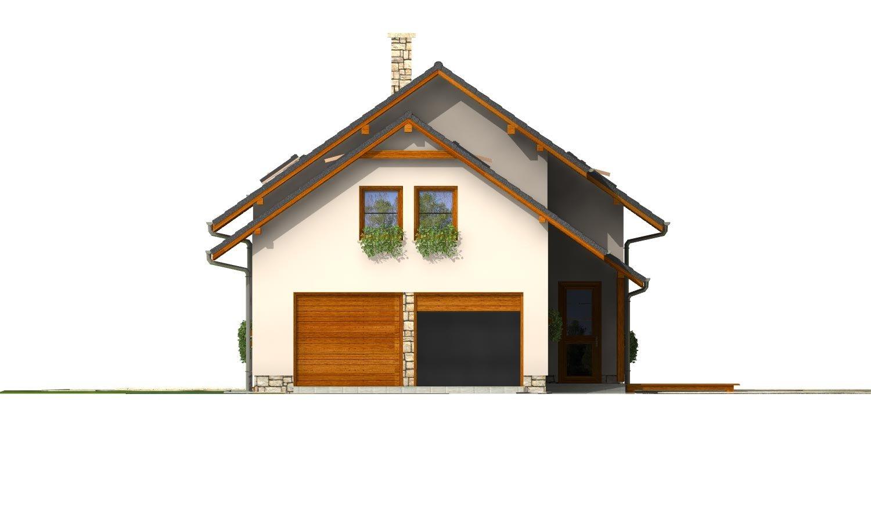 Pohľad 2. - Veľký dom s izbou aj na prízemí a dvojgarážou vhodný na užší pozemok.