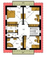 Pôdorys poschodia - PREMIER 155