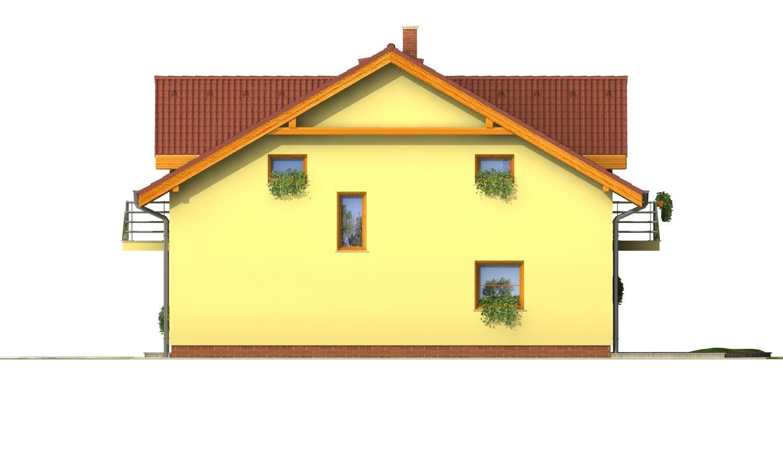 Pohľad 4. - Poschodový RD s izbou na prízemí.