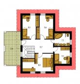 Pôdorys poschodia - PREMIER 156