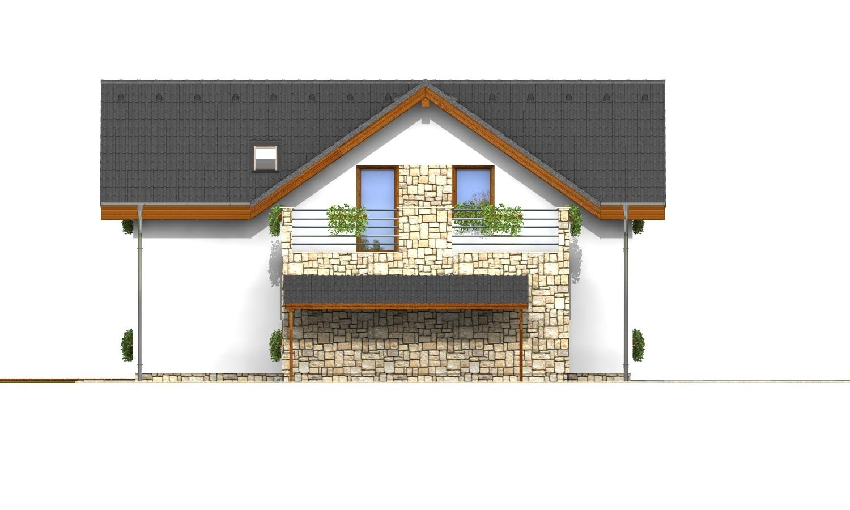 Pohľad 2. - Dom s terasou nad garážou