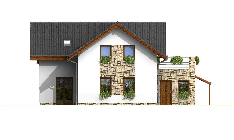 Pohľad 3. - Dom s terasou nad garážou