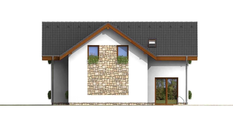 Pohľad 4. - Dom s terasou nad garážou
