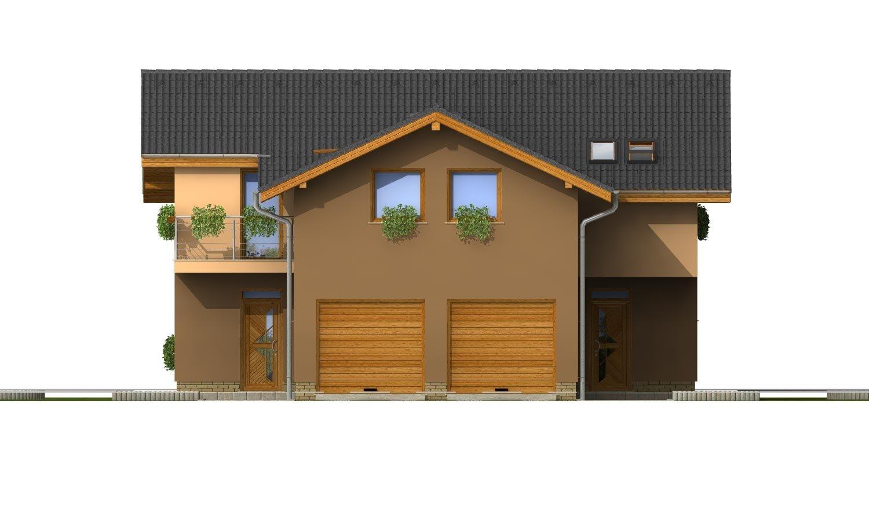 Pohľad 1. - Projekt dvojgeneračného domu
