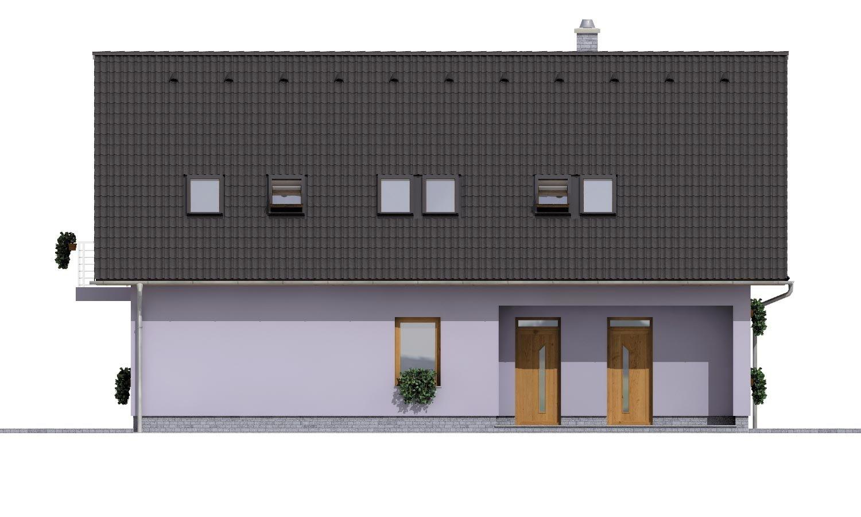 Pohľad 1. - Priestranný dvojgeneračný dom