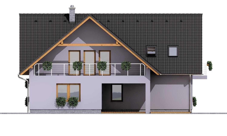 Pohľad 3. - Priestranný dvojgeneračný dom