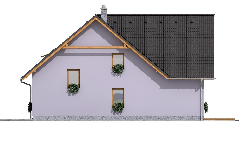 Pohľad 4. - Priestranný dvojgeneračný dom
