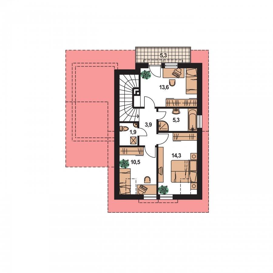 Pôdorys Poschodia - Krásny malý dom