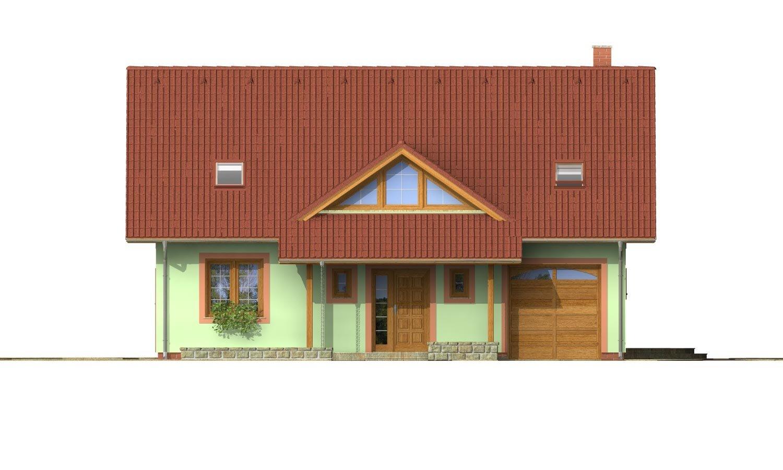 Pohľad 1. - Veľký dom s oddelenou kuchyňou.