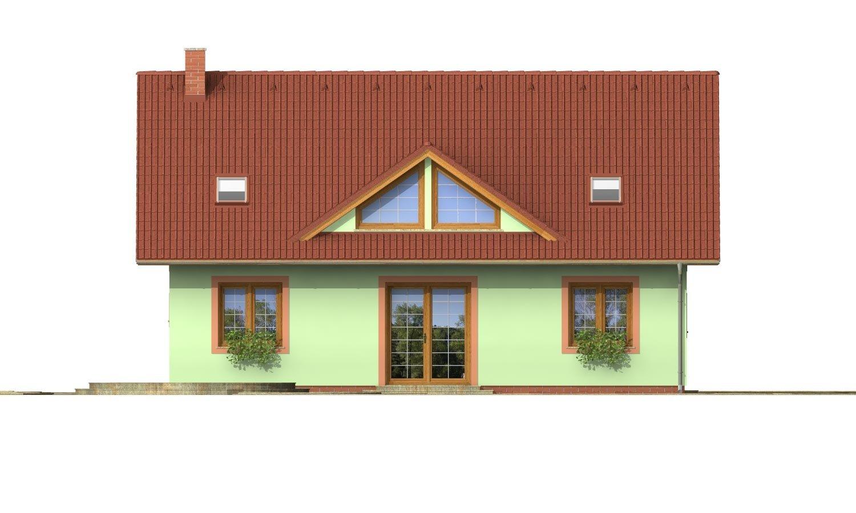 Pohľad 3. - Veľký dom s oddelenou kuchyňou.
