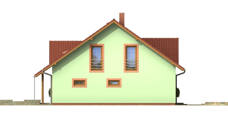 Pohľad 4. - Veľký dom s oddelenou kuchyňou.