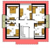 Pôdorys poschodia - PREMIER 175