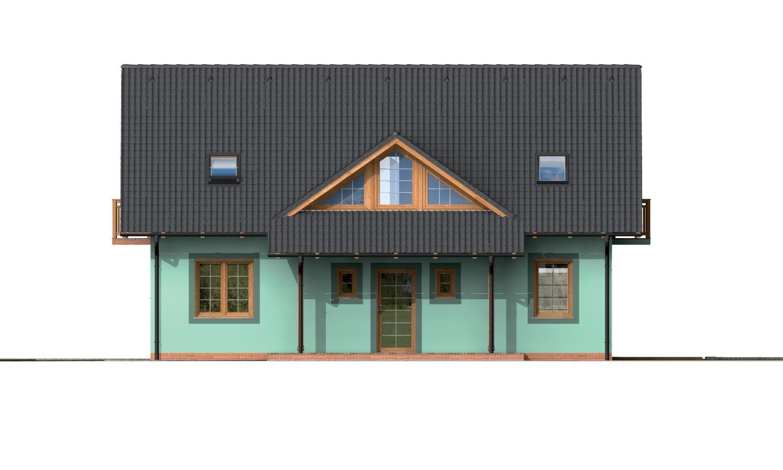 Pohľad 1. - Dom s dvoma izbami na prízemí.