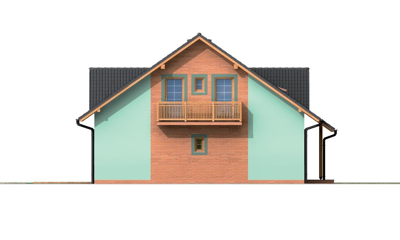 Pohľad 2. - Dom s dvoma izbami na prízemí.