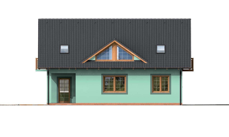 Pohľad 3. - Dom s dvoma izbami na prízemí.