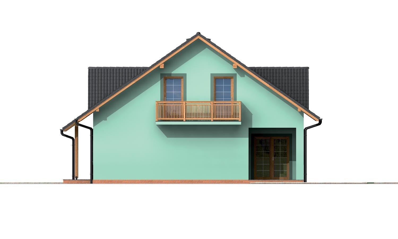 Pohľad 4. - Dom s dvoma izbami na prízemí.