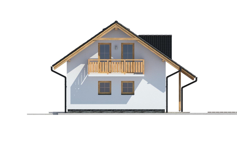 Pohľad 4. - Dom vhodný aj na užší pozemok.