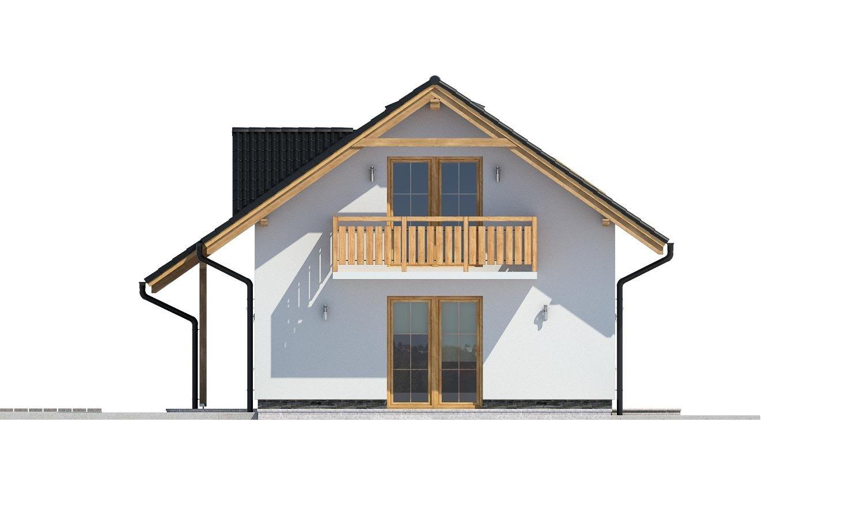 Pohľad 2. - Dom vhodný aj na užší pozemok.