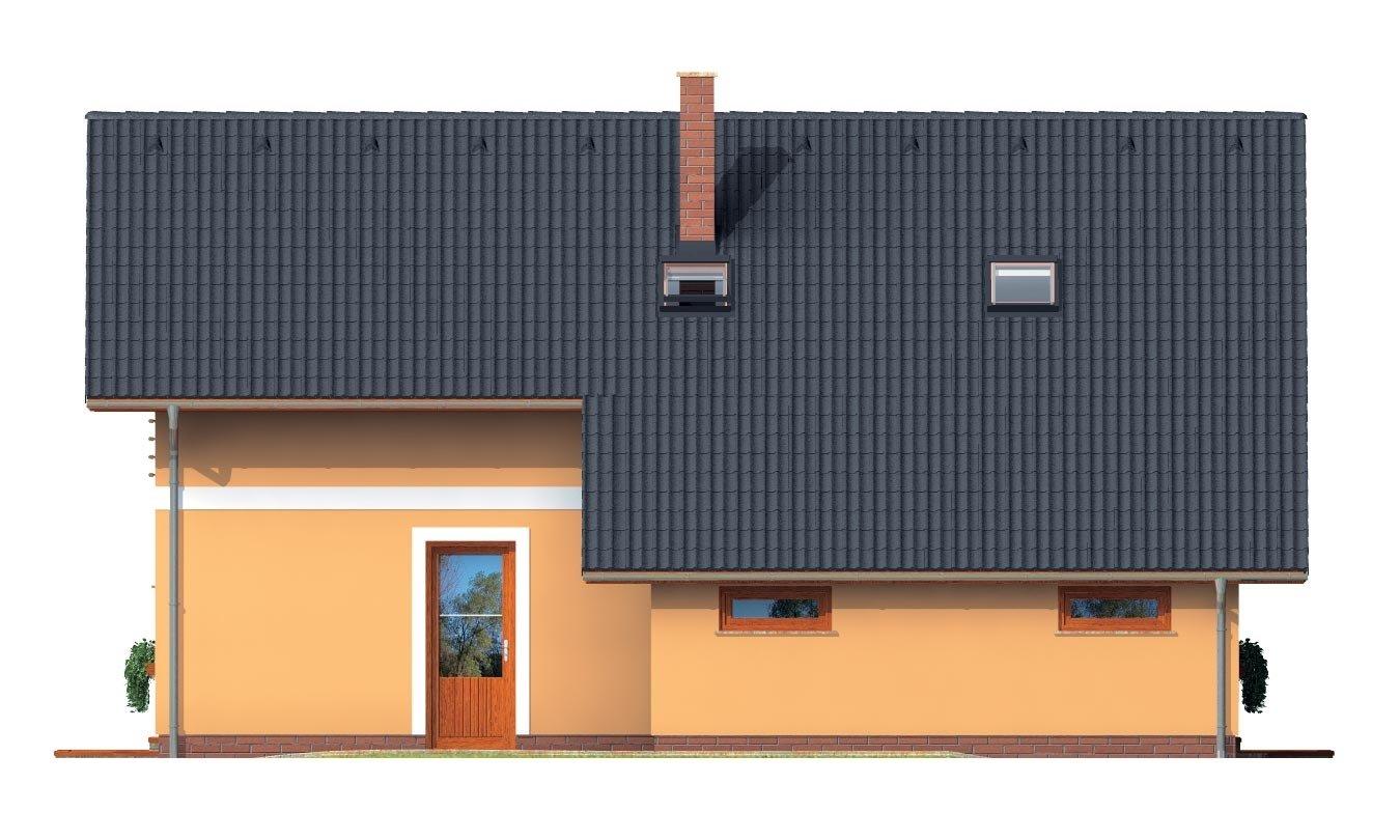 Pohľad 2. - Realizácia bez garáže je vhodný na úzky pozemok.