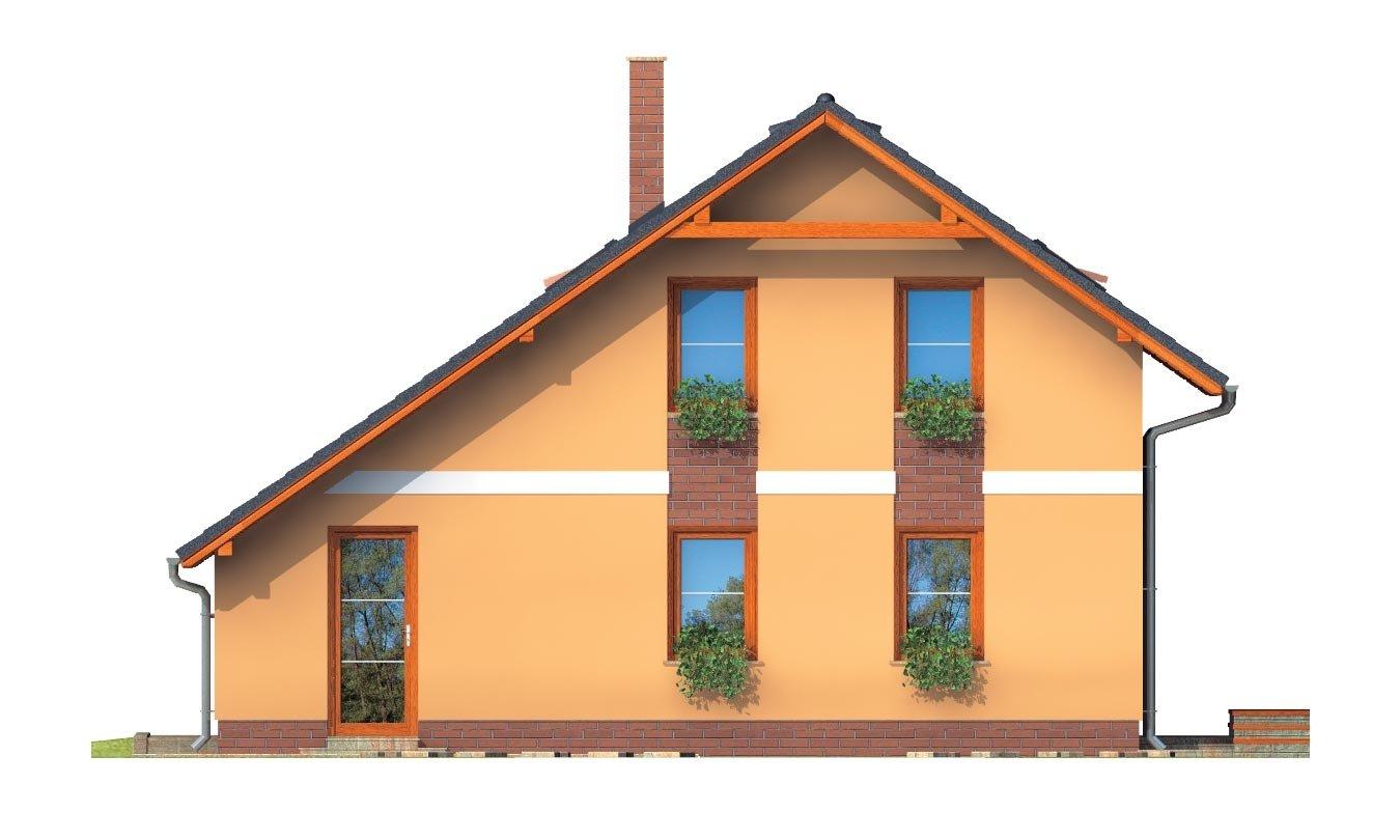 Pohľad 3. - Realizácia bez garáže je vhodný na úzky pozemok.