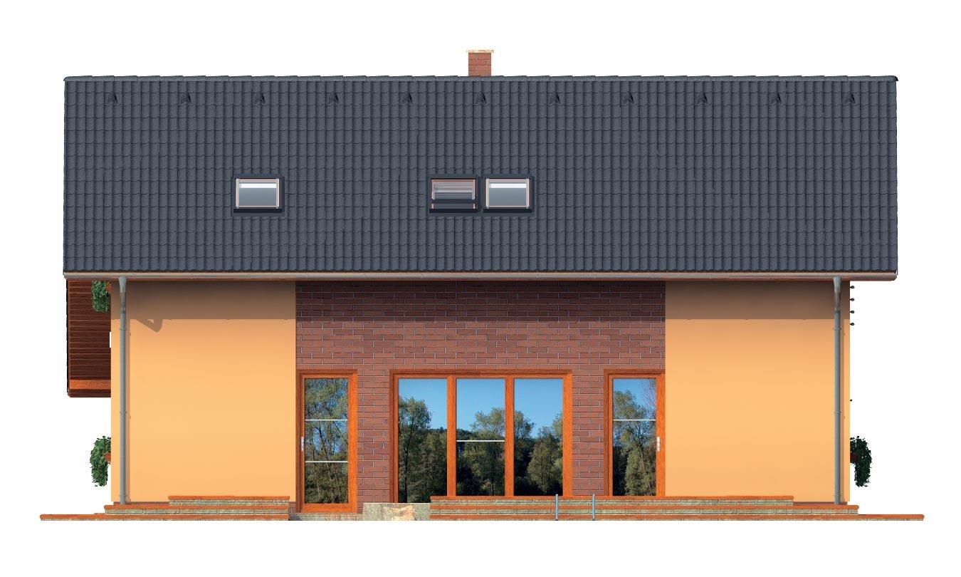 Pohľad 4. - Realizácia bez garáže je vhodný na úzky pozemok.