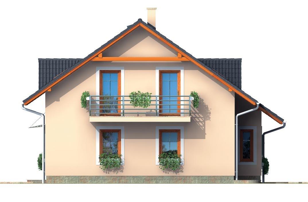 Pohľad 2. - Zaujimavý pedkrovný dom s izbou na prízemí.