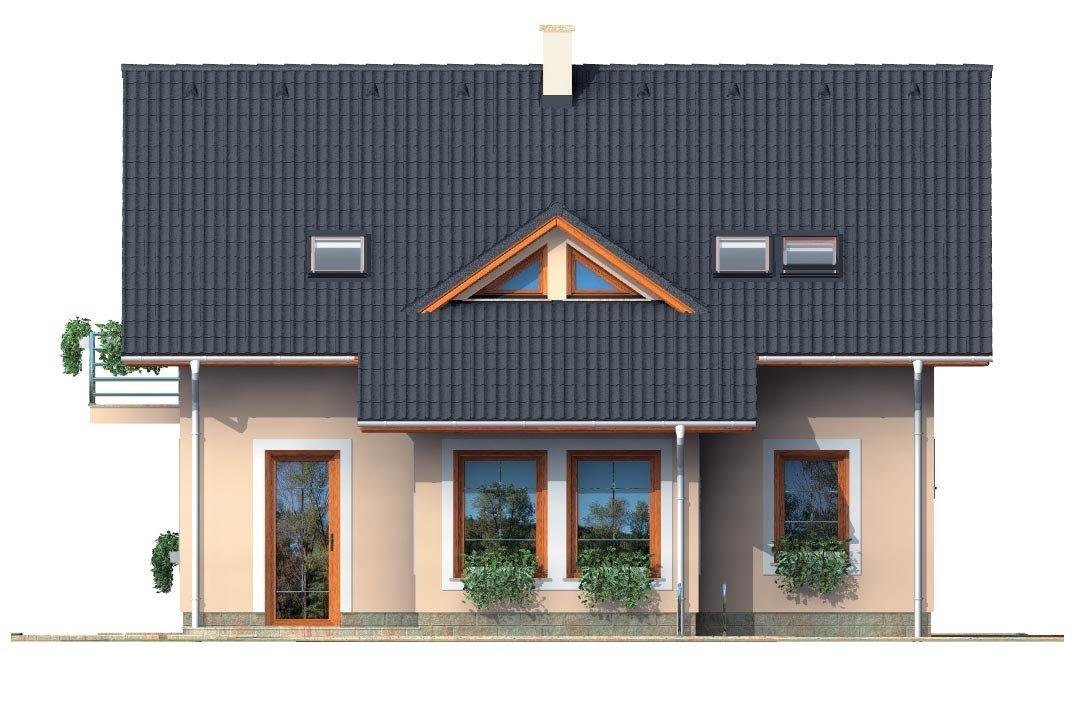 Pohľad 3. - Zaujimavý pedkrovný dom s izbou na prízemí.