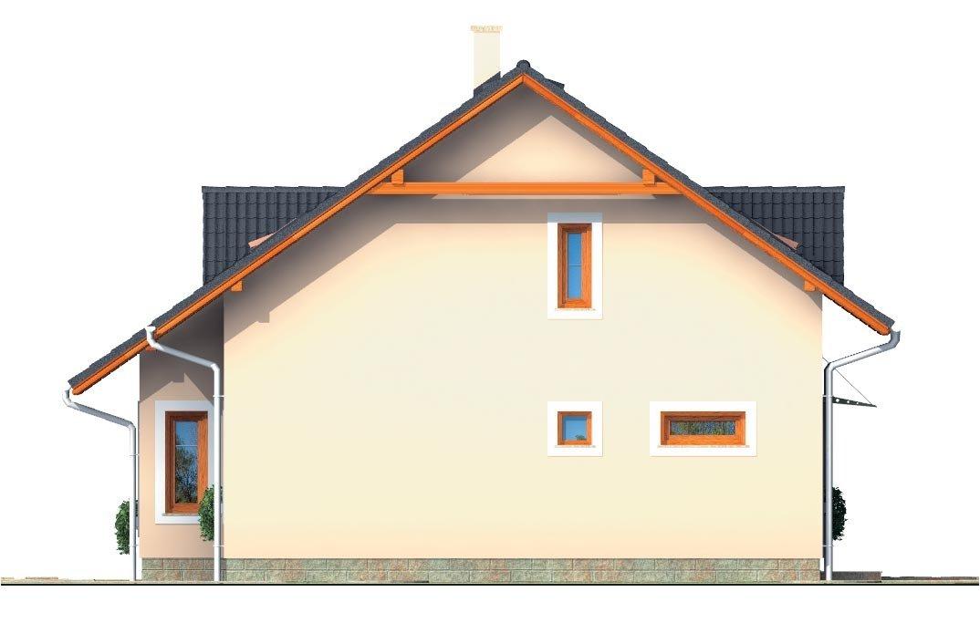 Pohľad 4. - Zaujimavý pedkrovný dom s izbou na prízemí.