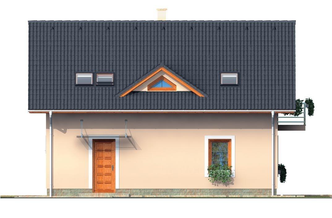 Pohľad 1. - Zaujimavý pedkrovný dom s izbou na prízemí.