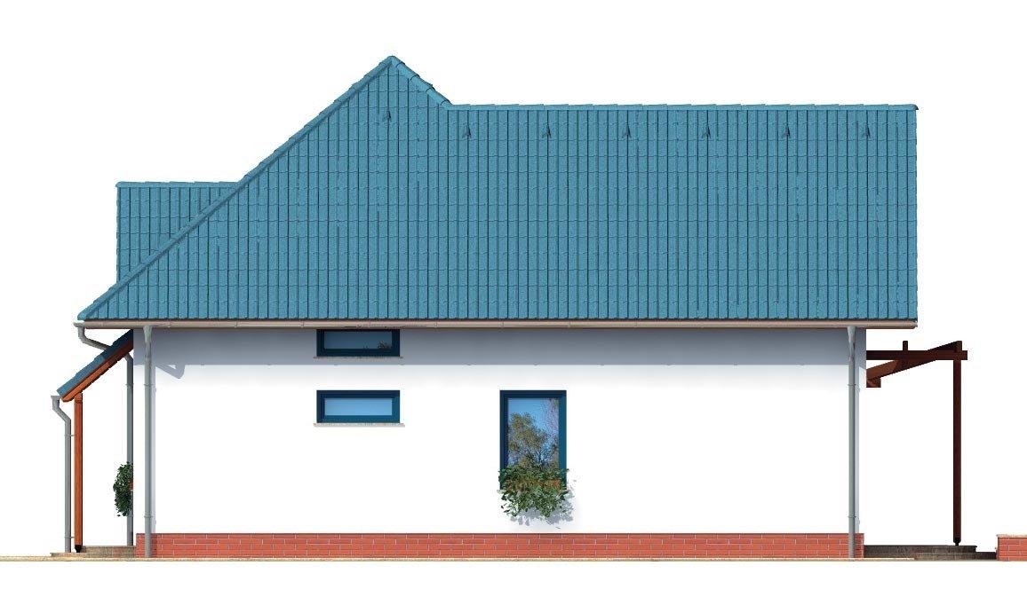 Pohľad 2. - Poschodový dom do tvaru L so sedlovými strechami