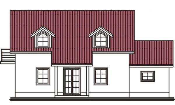 Pohľad 3. - Projekt domu vhodný na dvojdom